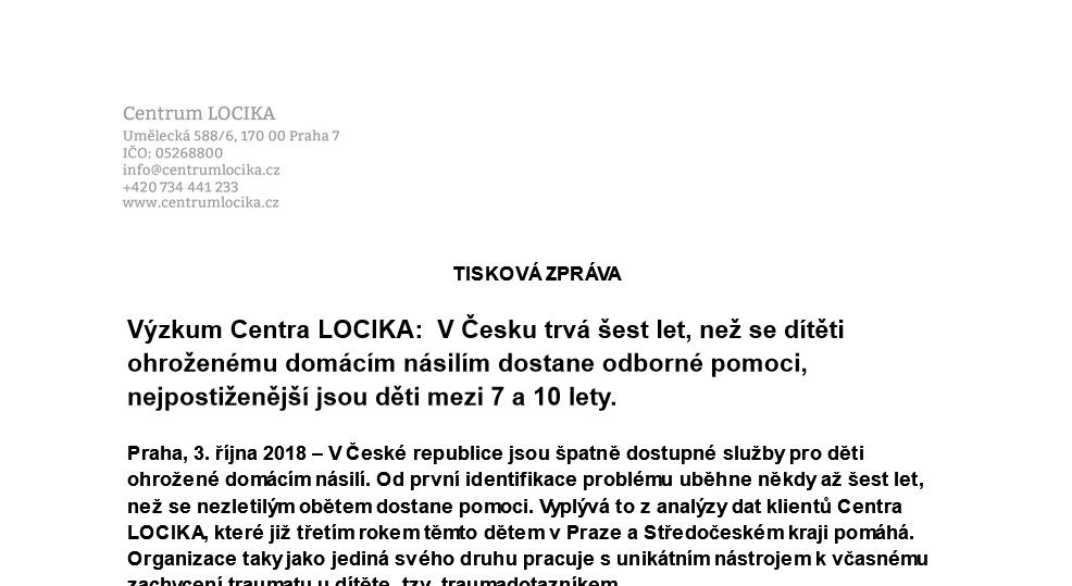 V České republice jsou špatně dostupné služby pro děti ohrožené domácím násilí.