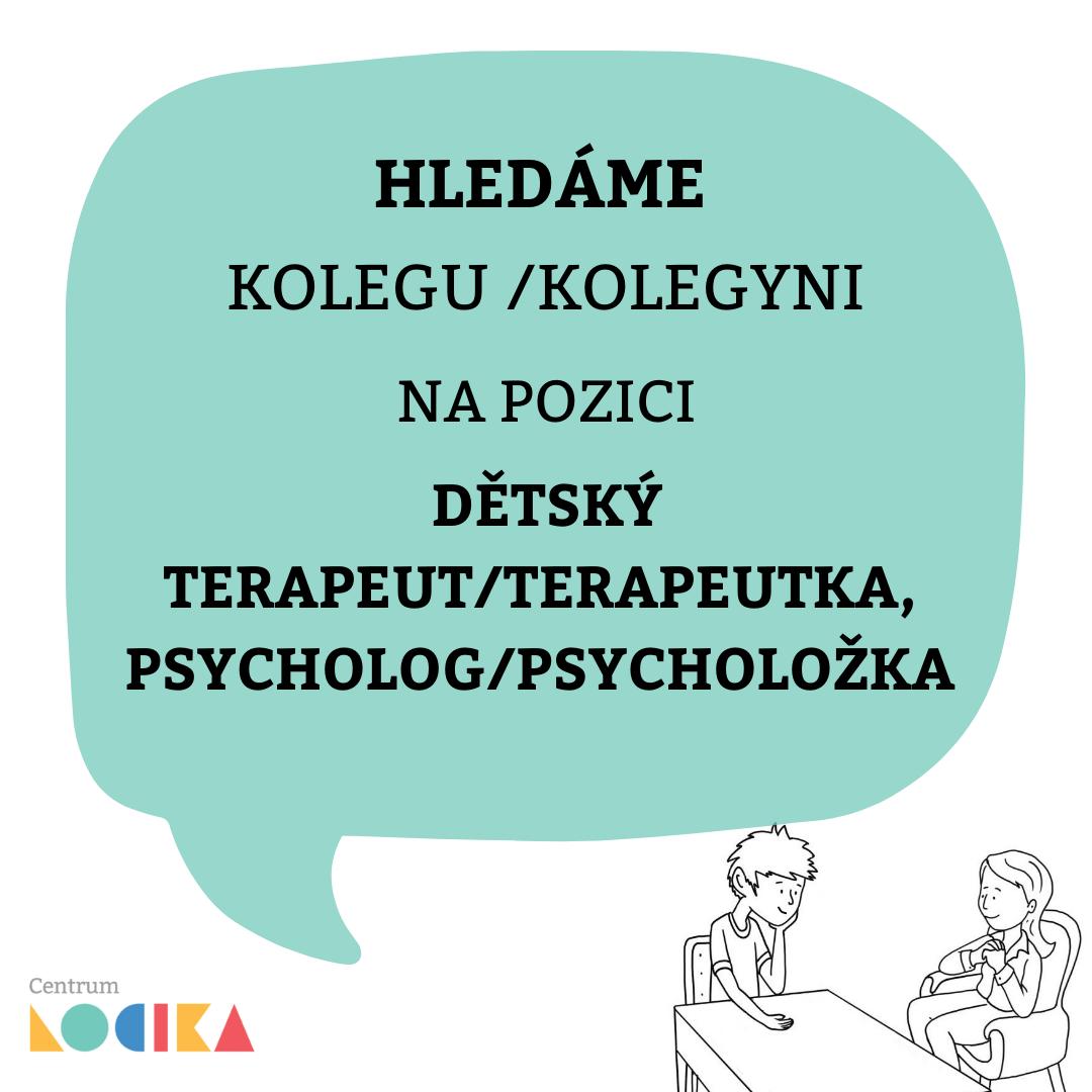 Dětský terapeut/terapeutka, psycholog/psycholožka