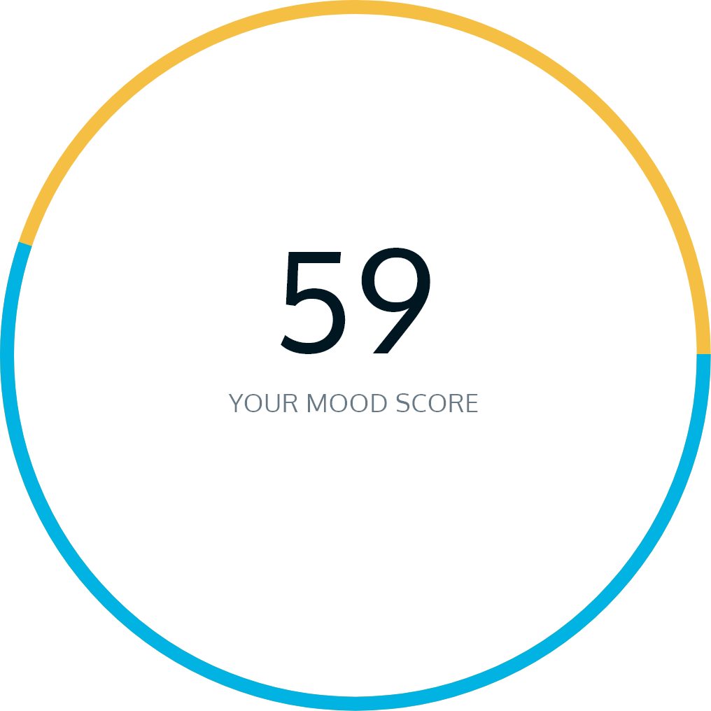 Image showing an example of Moodbeam Mood Score