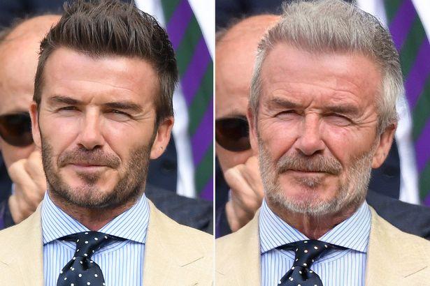 David Beckham FaceApp