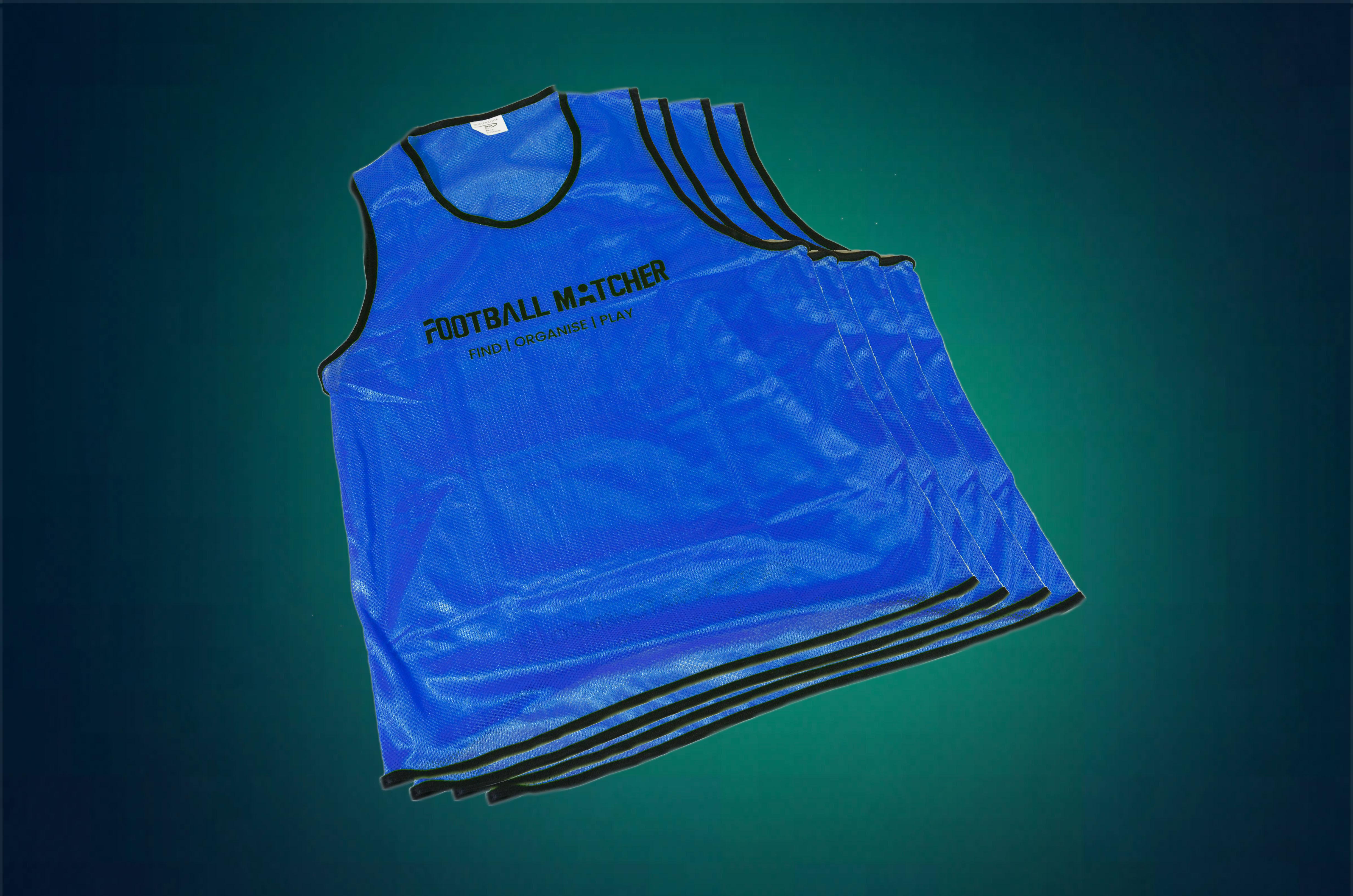 FM Blue Mesh Bibs (8 Pack)