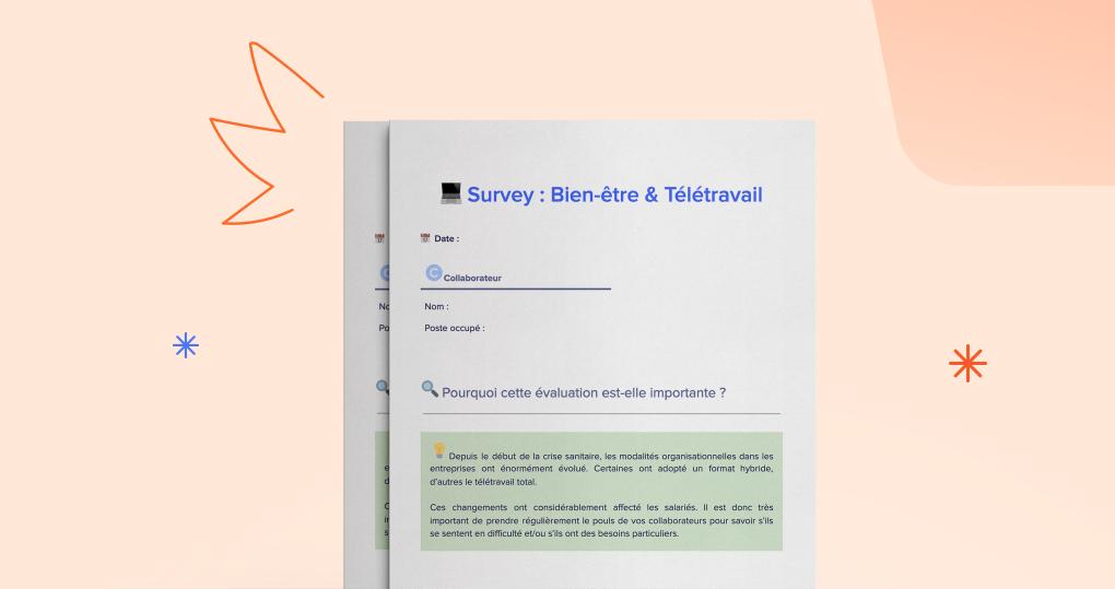 Votre Survey pour mesurer le bien-être de vos collaborateurs en télétravail