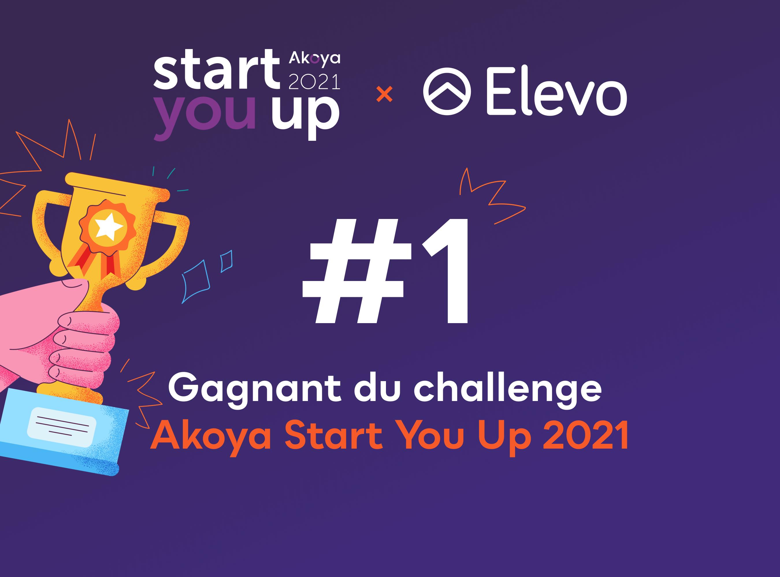 Akoya Start You Up 2021 : Elevo remporte le prix HR tech de l'année