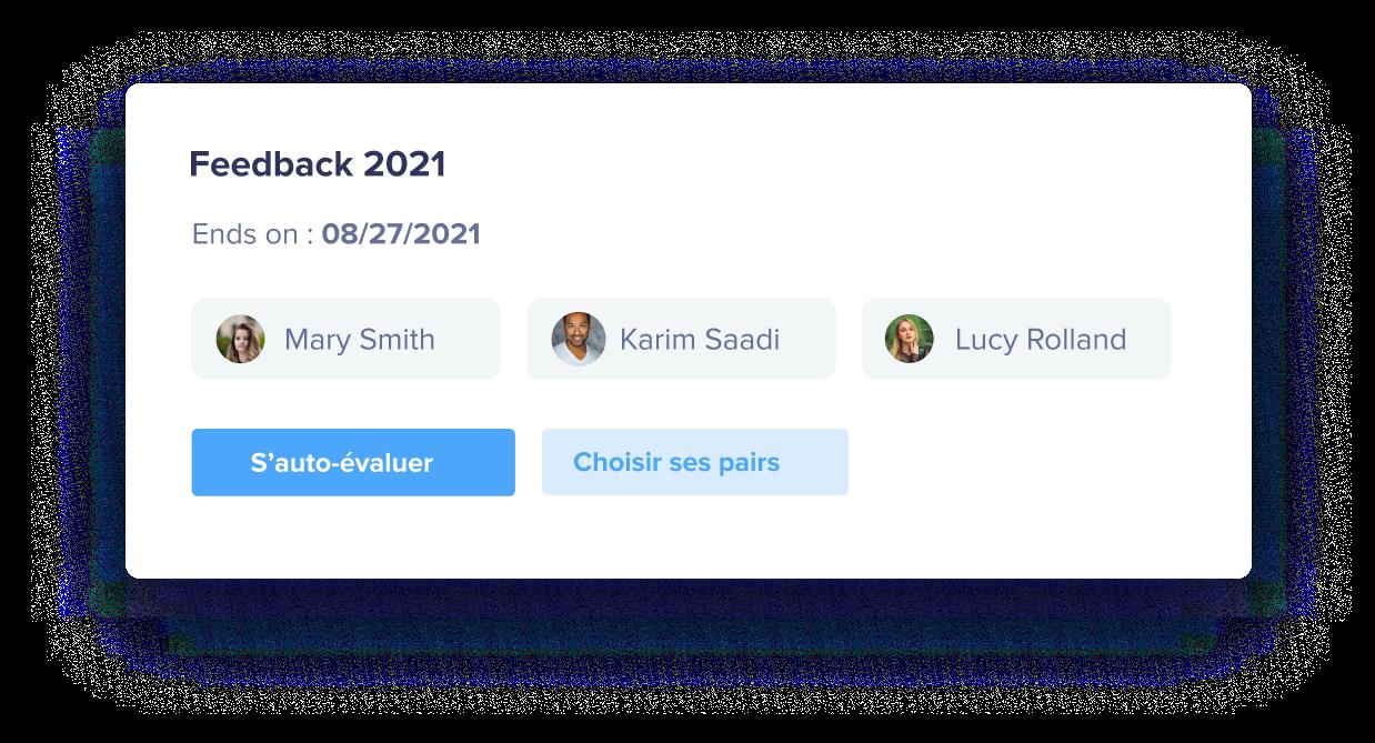 Engagez vos collaborateurs dans l'exercice du Feedback 360° en leur permettant de choisir les pairs qui vont les évaluer.