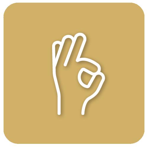 Pictogramme d'une main qui fait le signe ok
