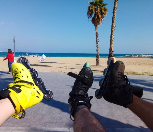 Skating holidays in Barcelona.