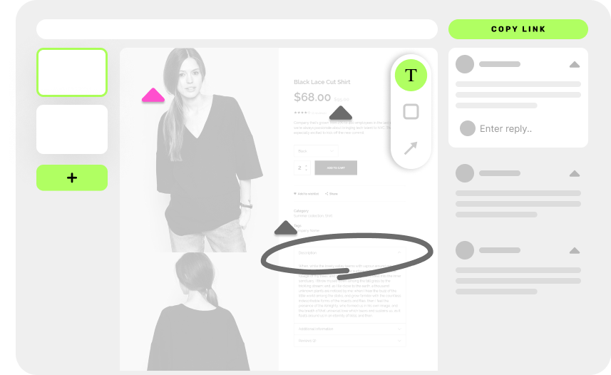 get visual feedback with a link