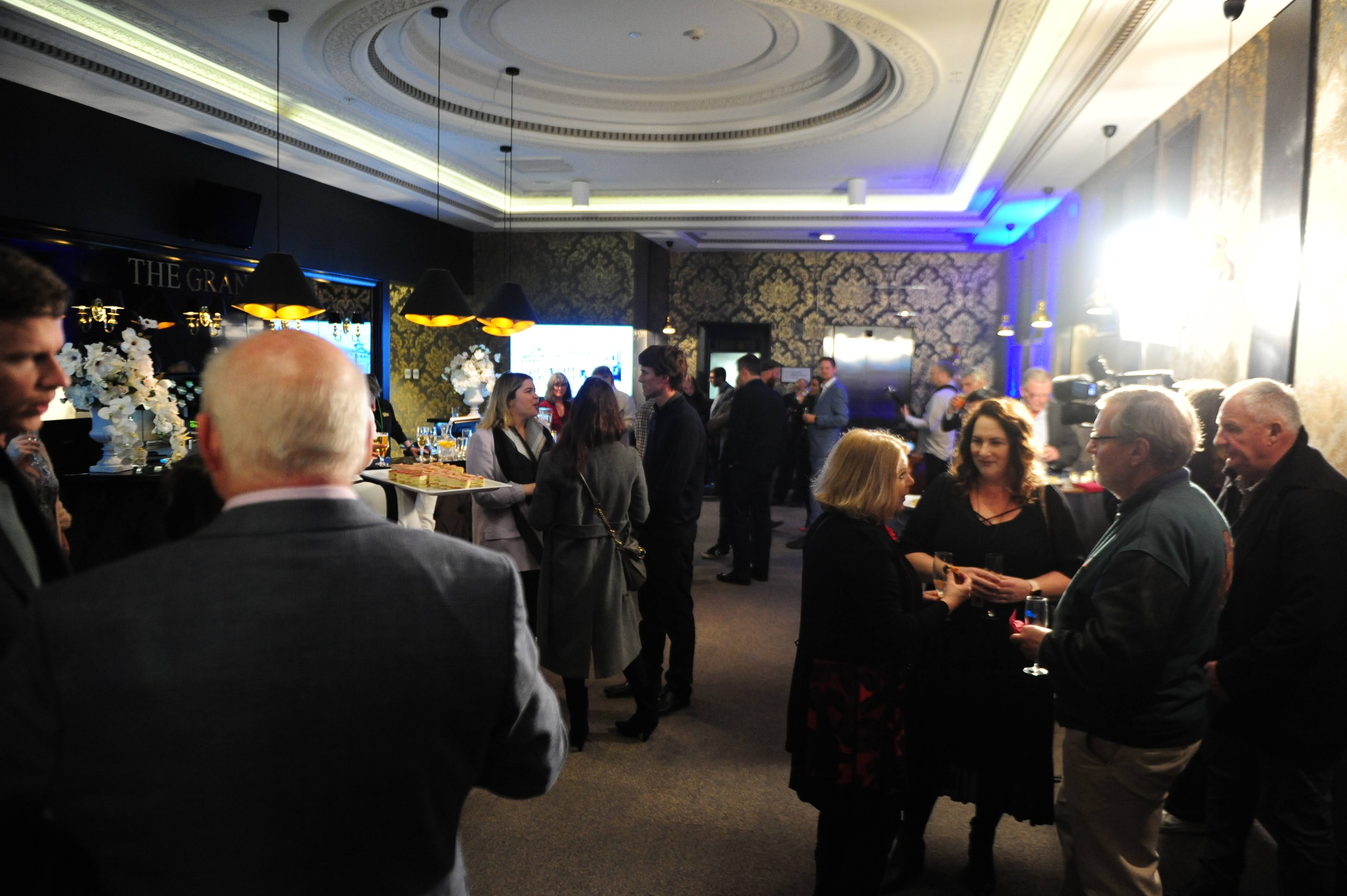 Guests mingle before the Lunch Event begins
