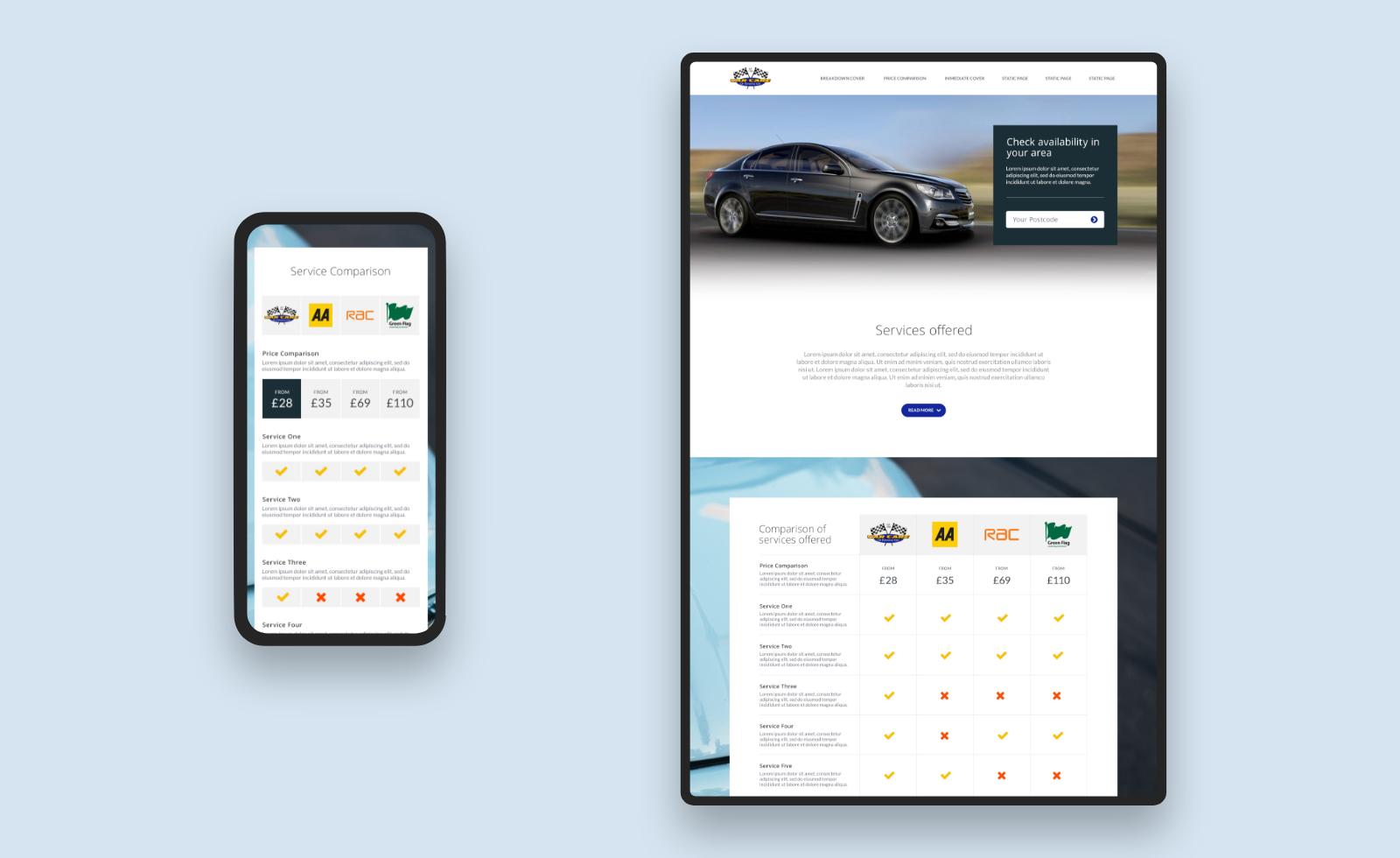 Car Care of Kensington Responsive Designs