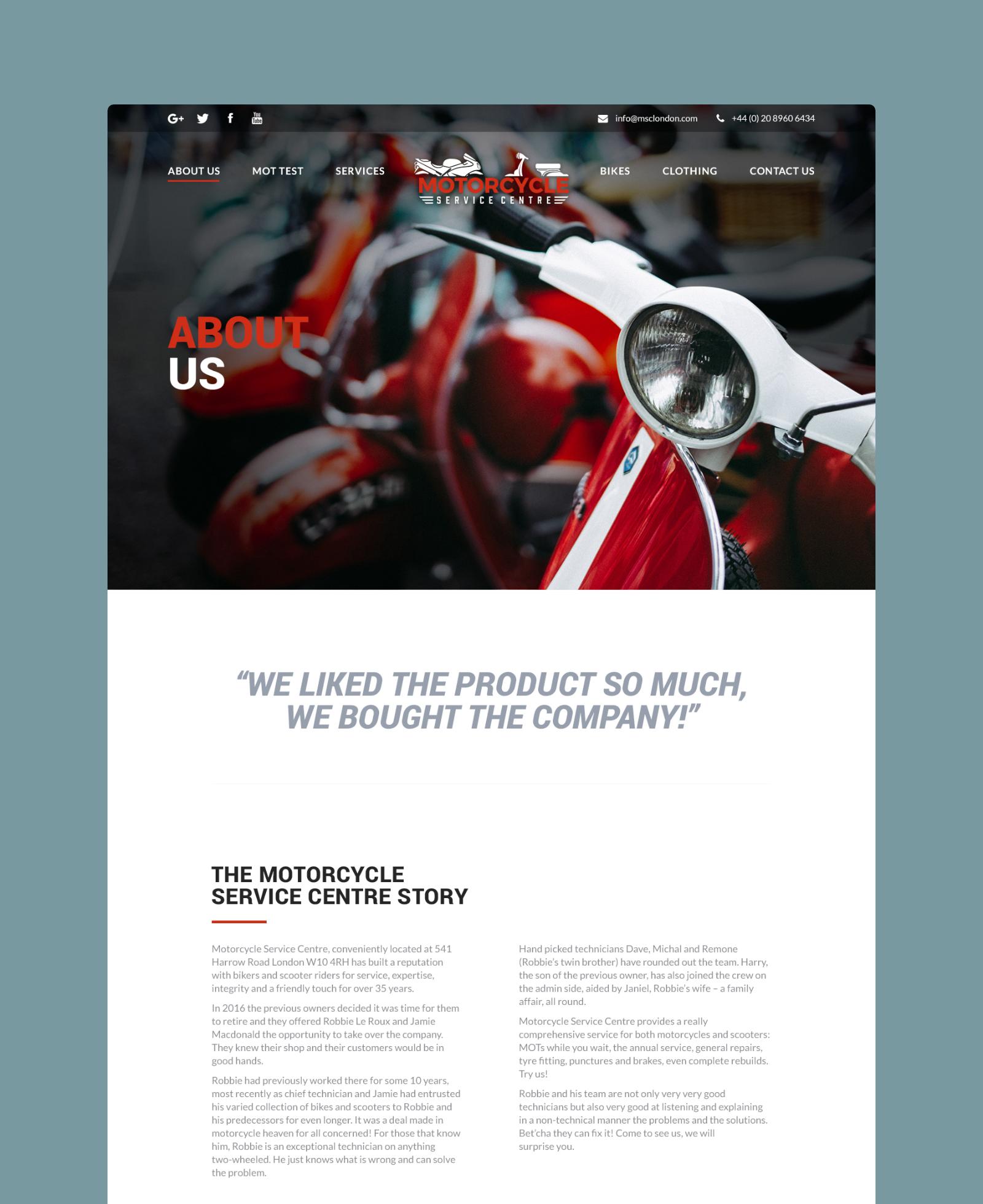 Motorcycle Service Centre Story