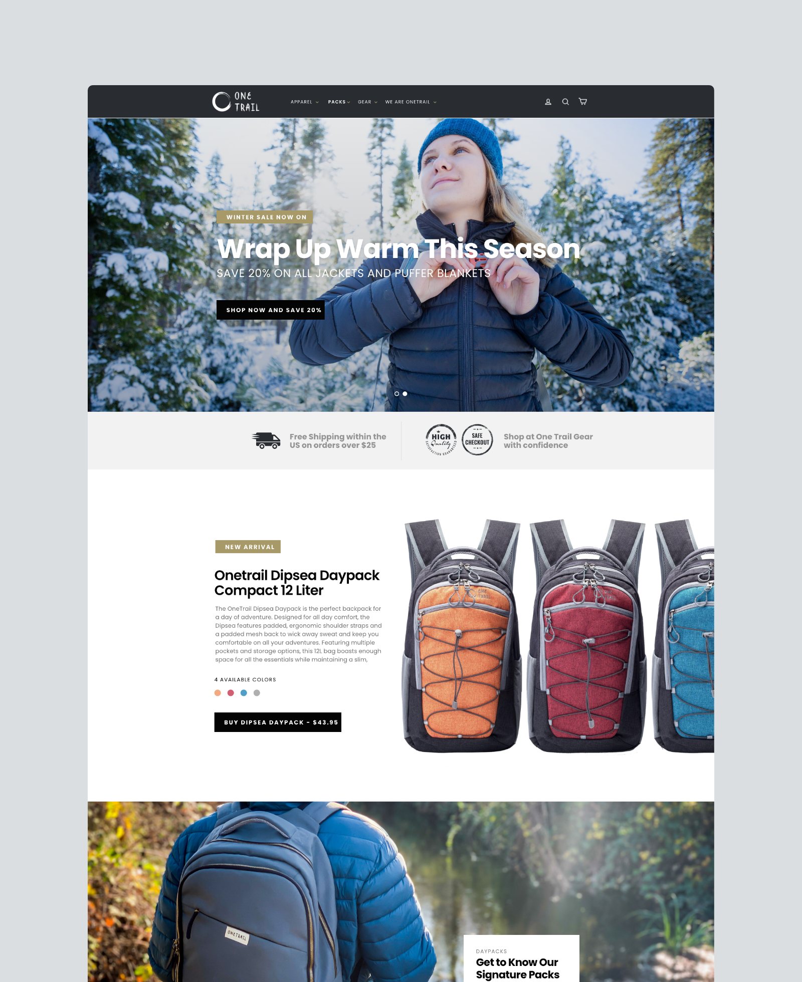 One Trail Gear Home Page