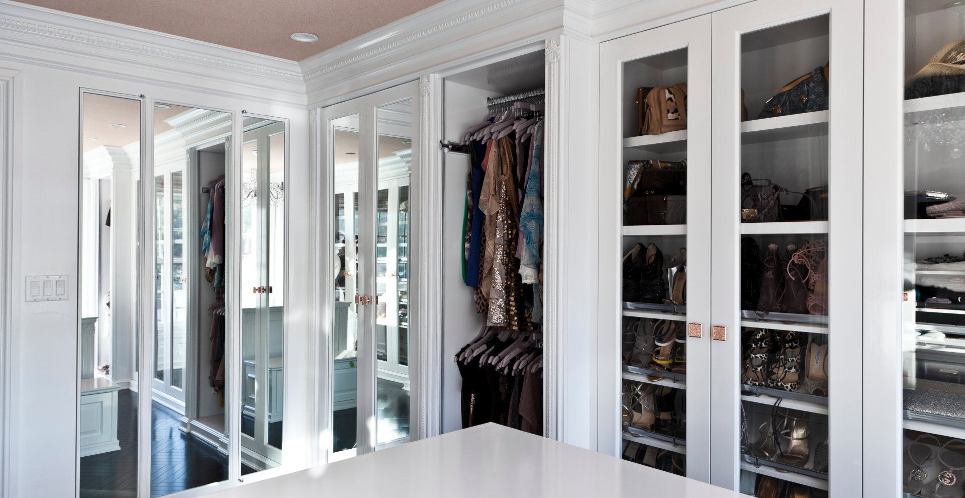 Custom glass walk in closet in NJ