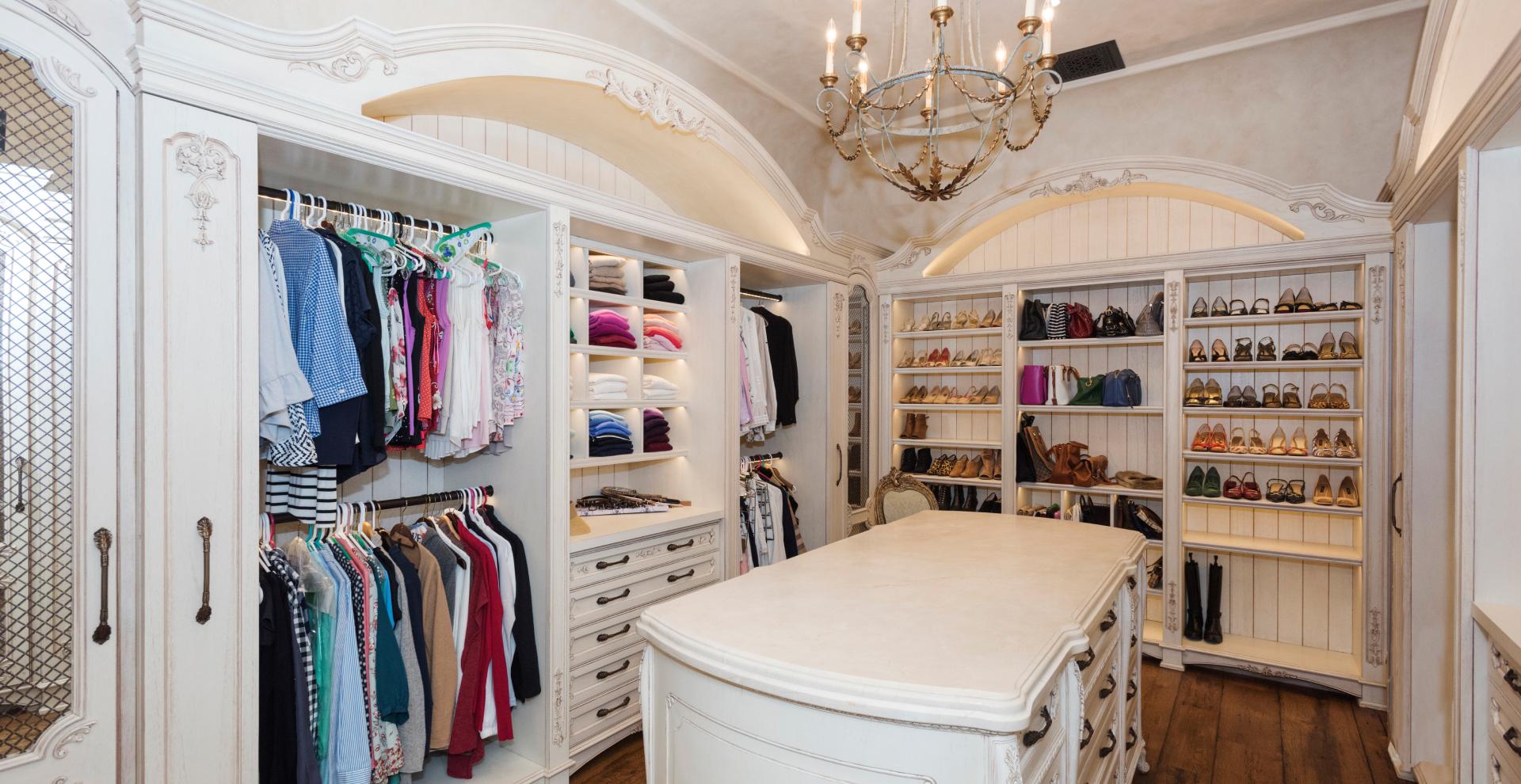 French provincial styled closet Saddle River, NJ.