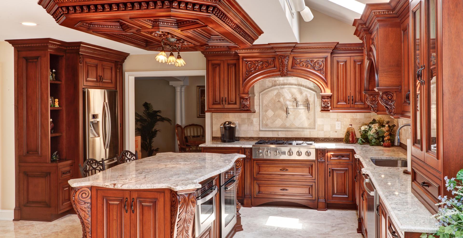 Mahogany stained classic kitchen Holbrook, NY