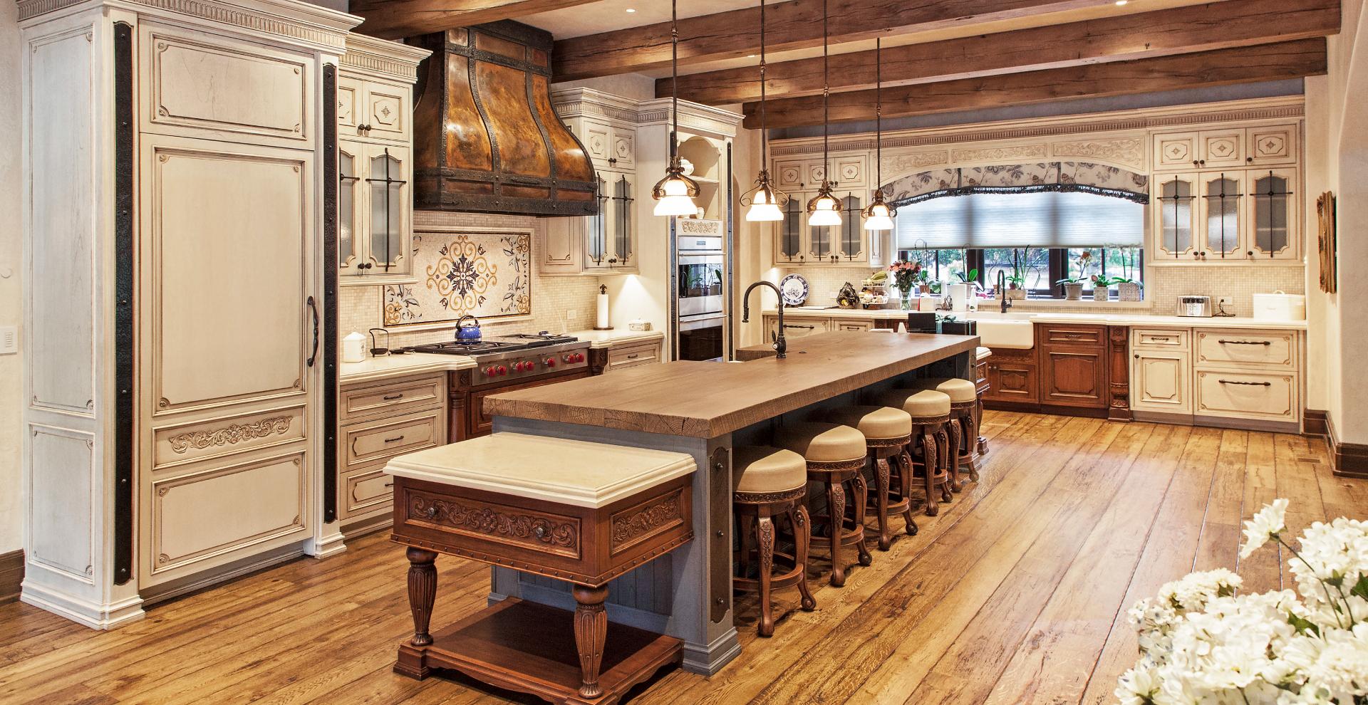 French provincial style kitchen Saddle River, NJ