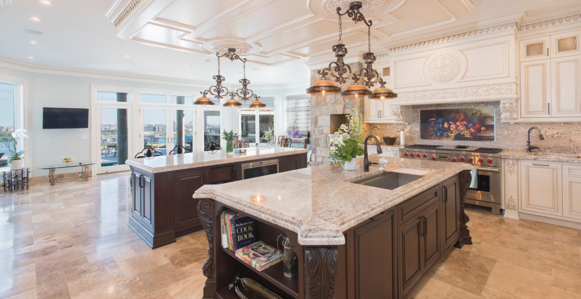 White toned kitchen Fort Lee, NJ