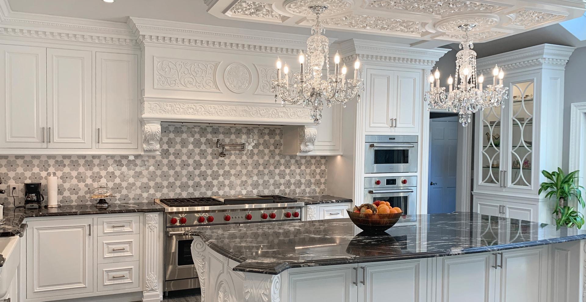 Italian inspired white kitchen