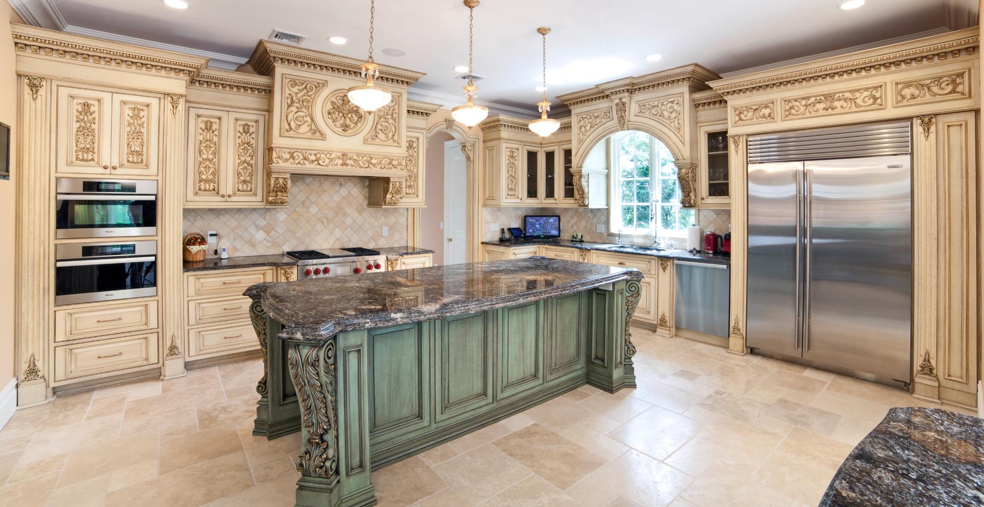 Two-toned patina kitchen Whitestone, NY