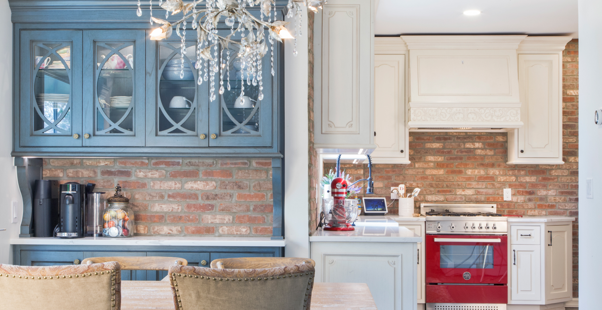 Provincial inspired transitional kitchen Leonia, NJ