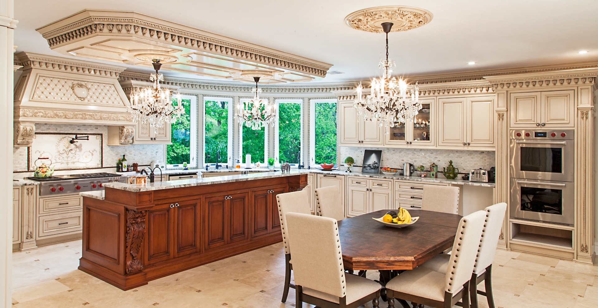 French inspired traditional kitchen, NJ