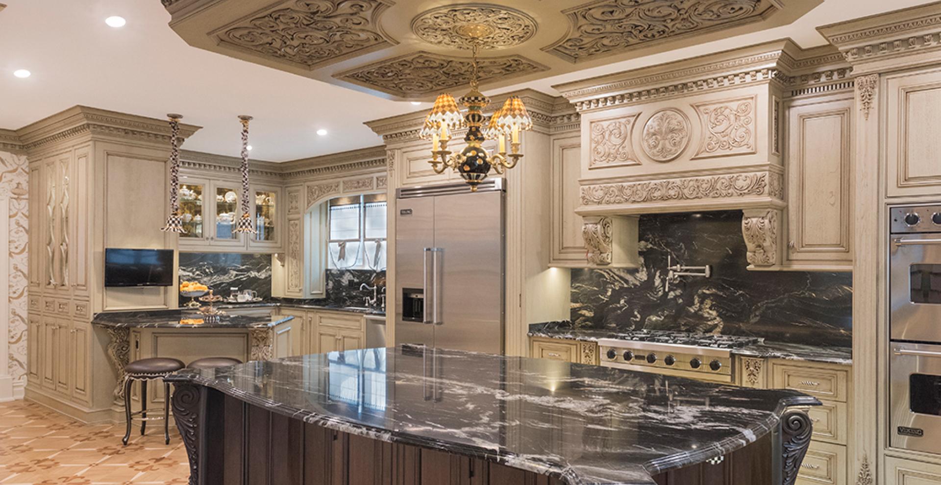 Classic light grey patina kitchen, NJ