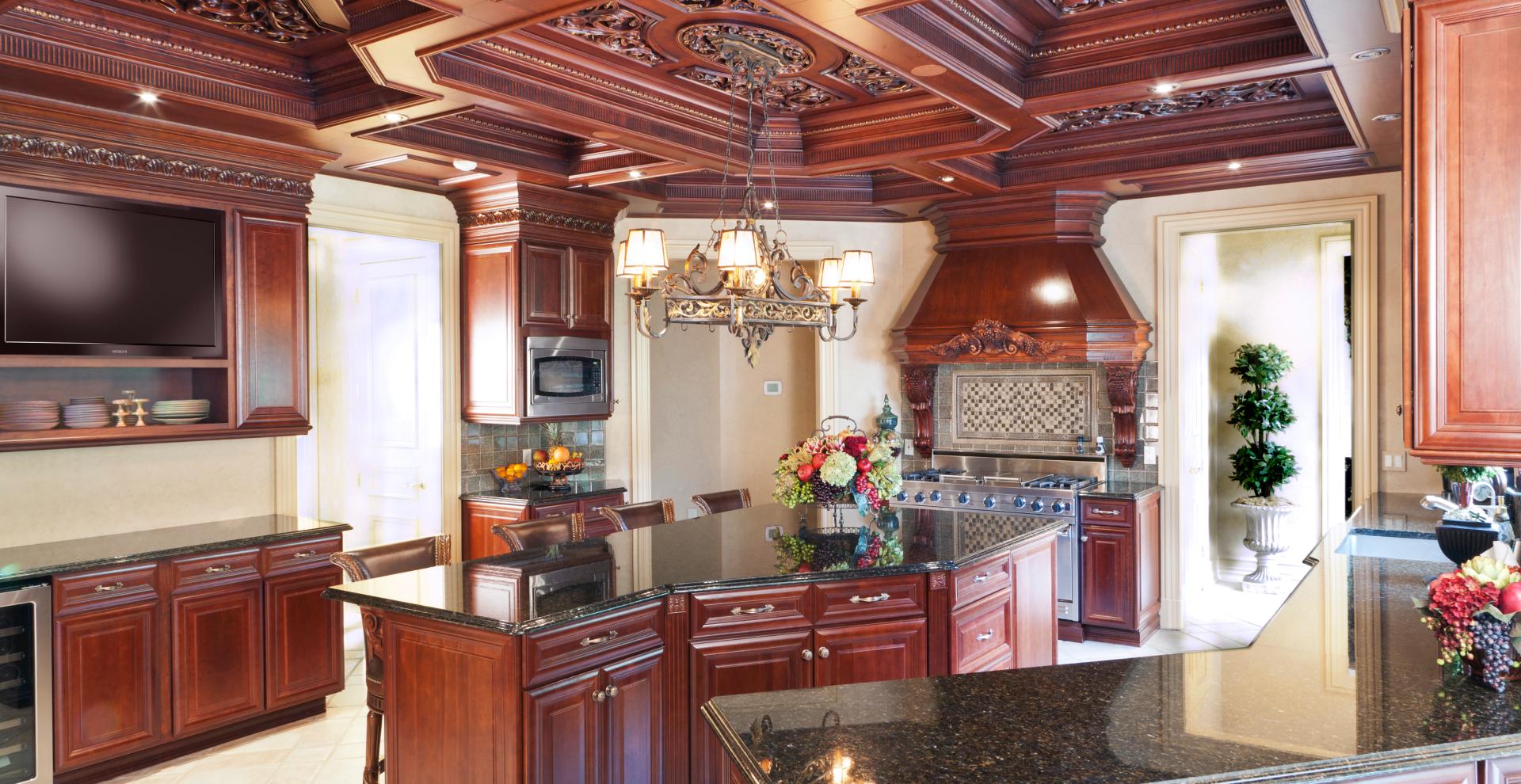 Mahogany stained traditional kitchen, NJ