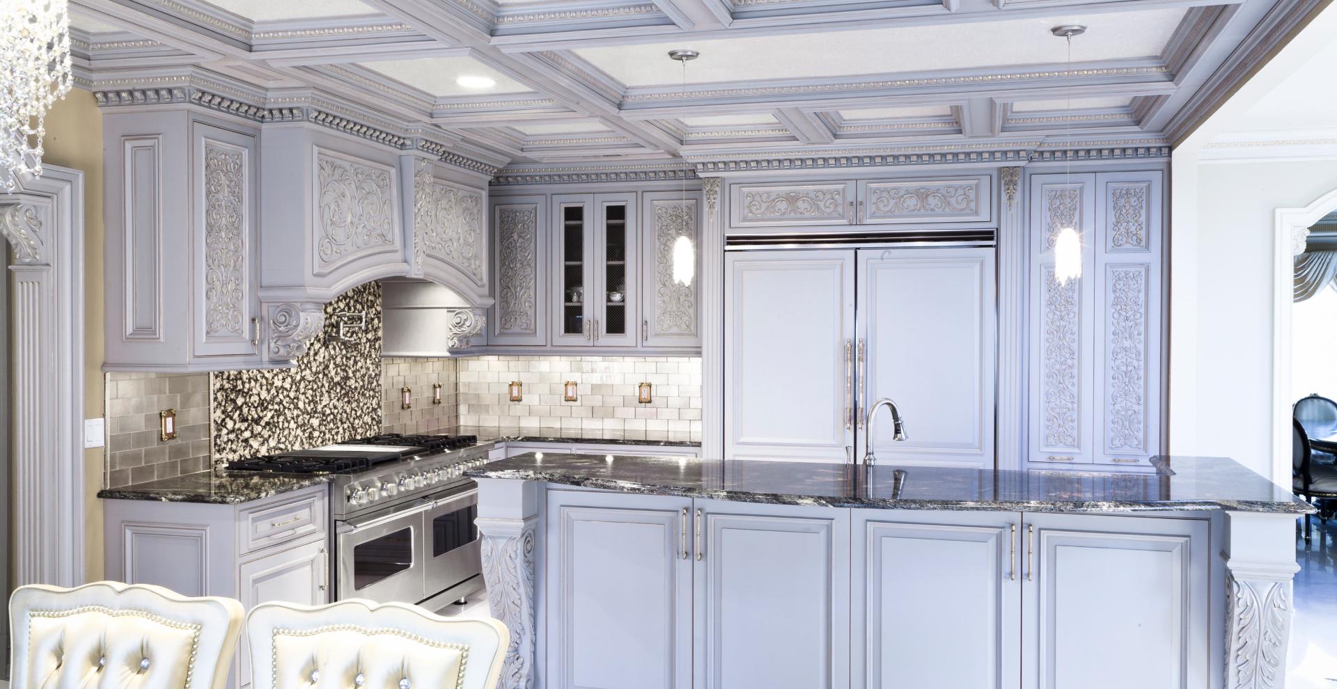 Light grey custom kitchen, NJ