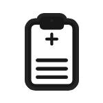 Medical list clipboard icon