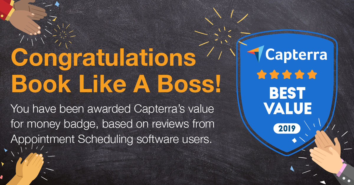 Book Like A Boss Receives Capterra's Value For Money Badge