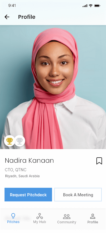 FounderTribes Profile of an Arabic lady
