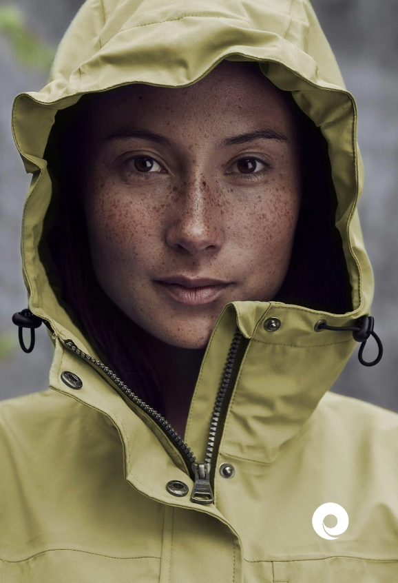 Women wearing a jacket