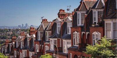 Image of UK houses overlooking London