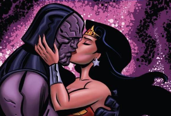 Wonder Woman And Darkseid Kiss