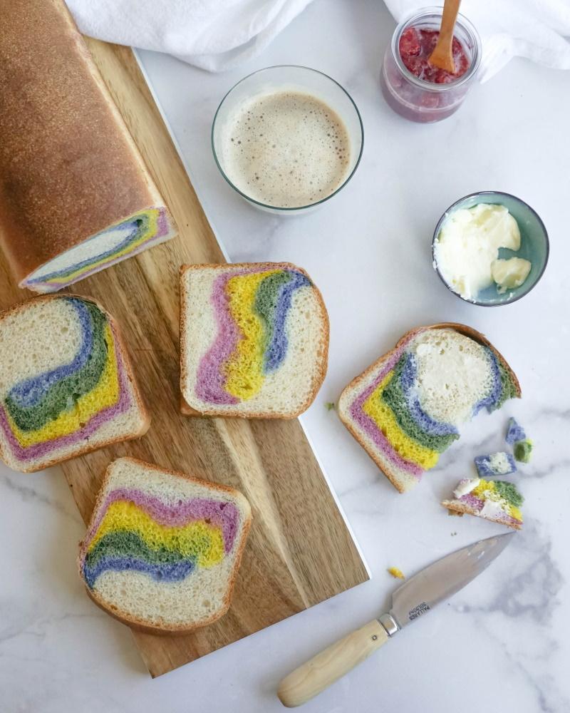 Rainbow Sourdough Milk Bread