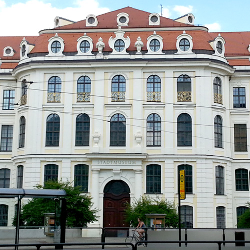 Front view of the Dresden City Museum, thumbnail image.