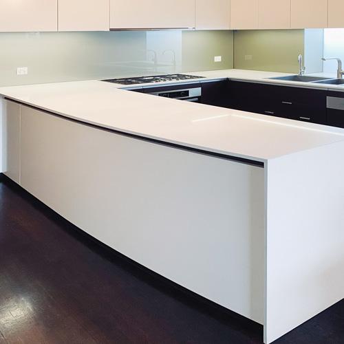 Kitchen benchtop and splashtop measured with Flexijet 3D, thumbnail image.