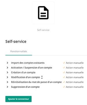 connecteur self-service