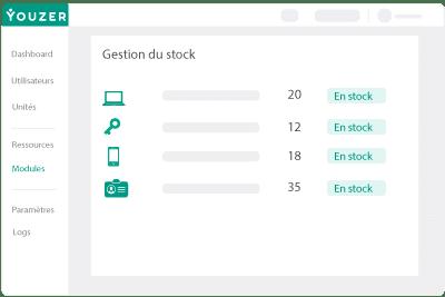 Gérez et attribuez votre stock matériel, clé, badge, ordinateur
