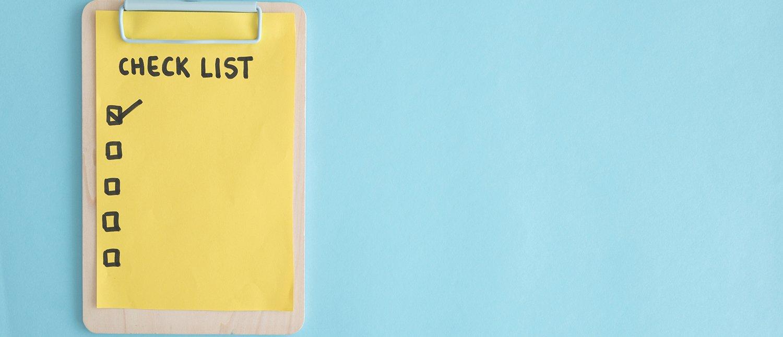 Les checklists utilisateurs