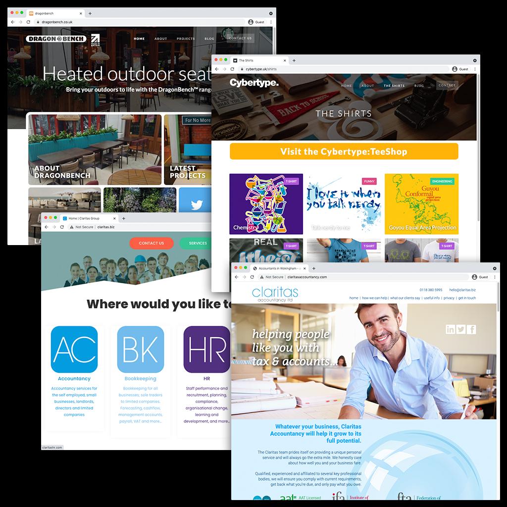 website design in bracknell - hosting and domain names