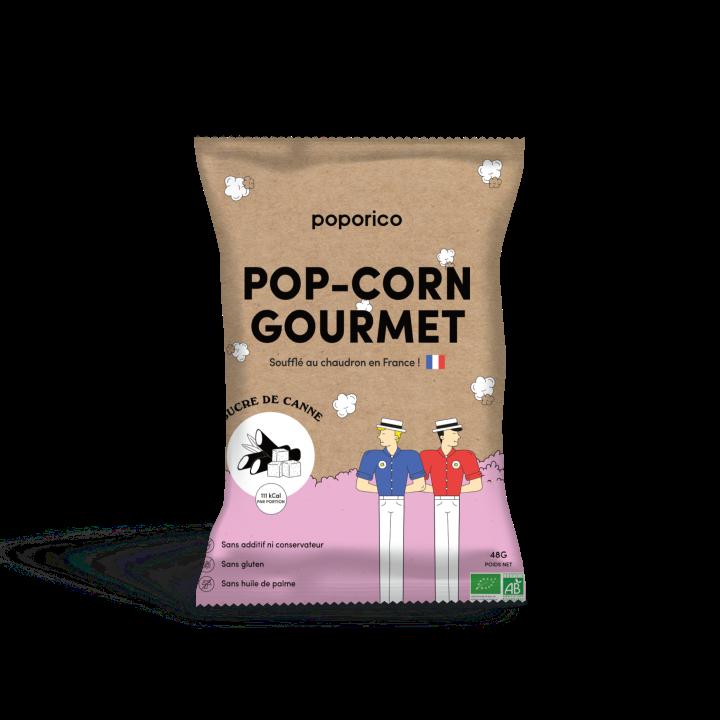 Sachet de pop-corn sucré de la marque Poporico
