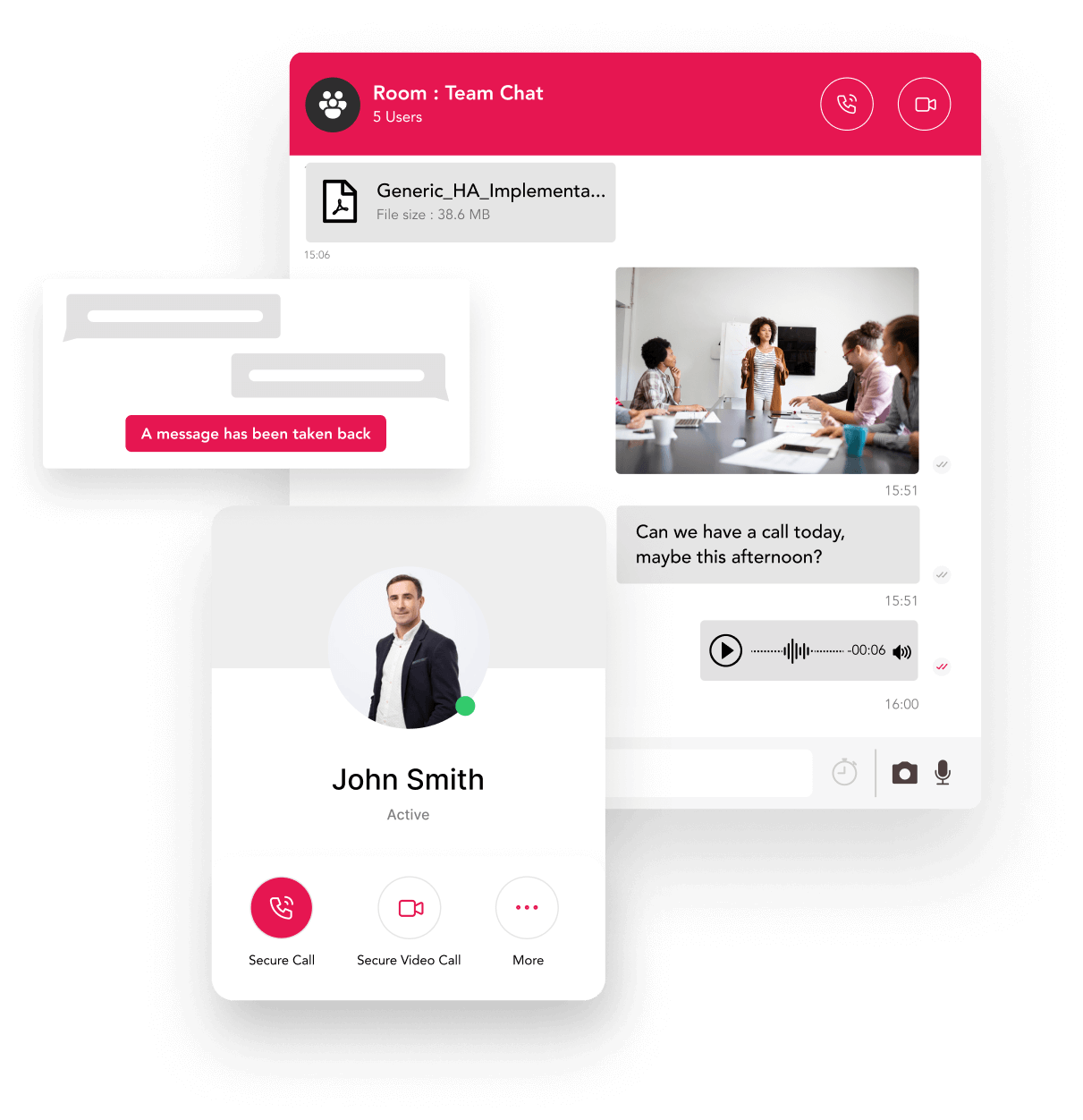Communicate in real time - Illustration