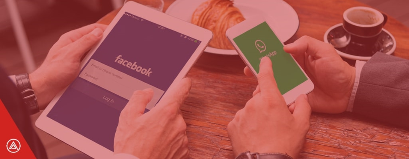 Facebook and whatsapp on mobile and ipad