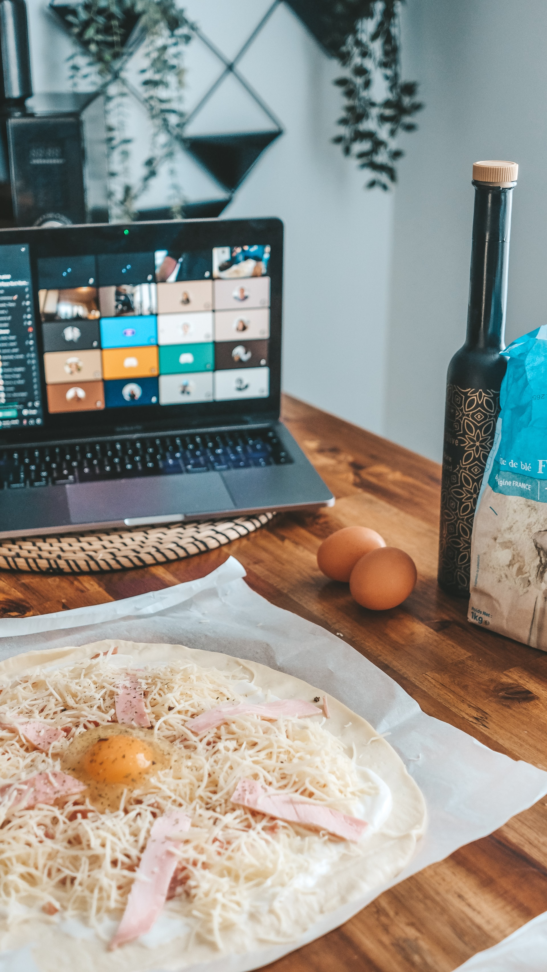 Laptop in a kitchen environment