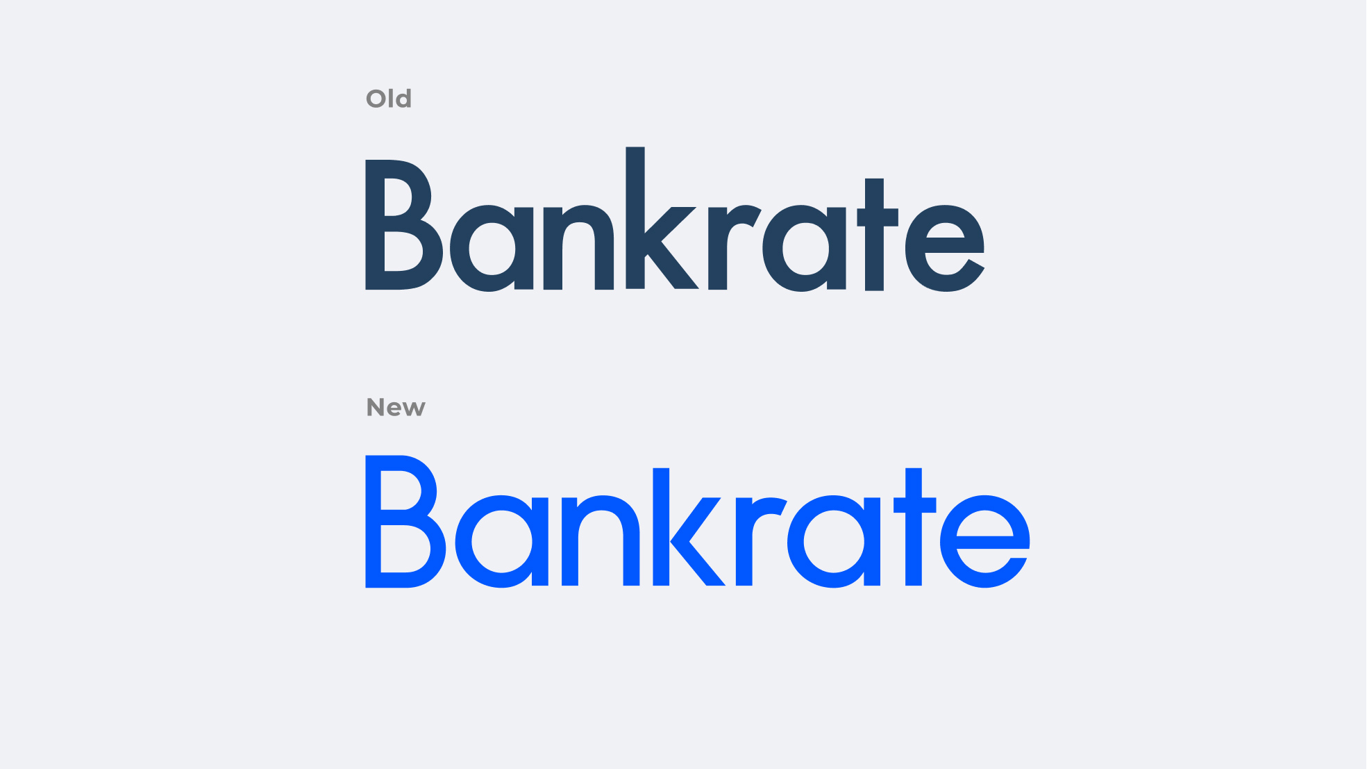 Bankrate's old and new logo designed by me.