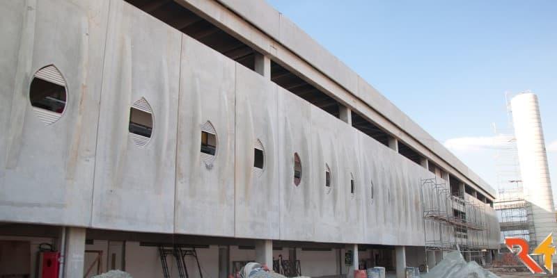 Fachada Edificação Pré-fabricada. São Paulo. R4 Tecnologia