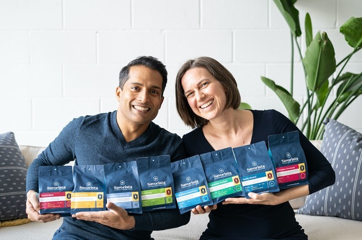 Savorista Founders with Coffee Bags
