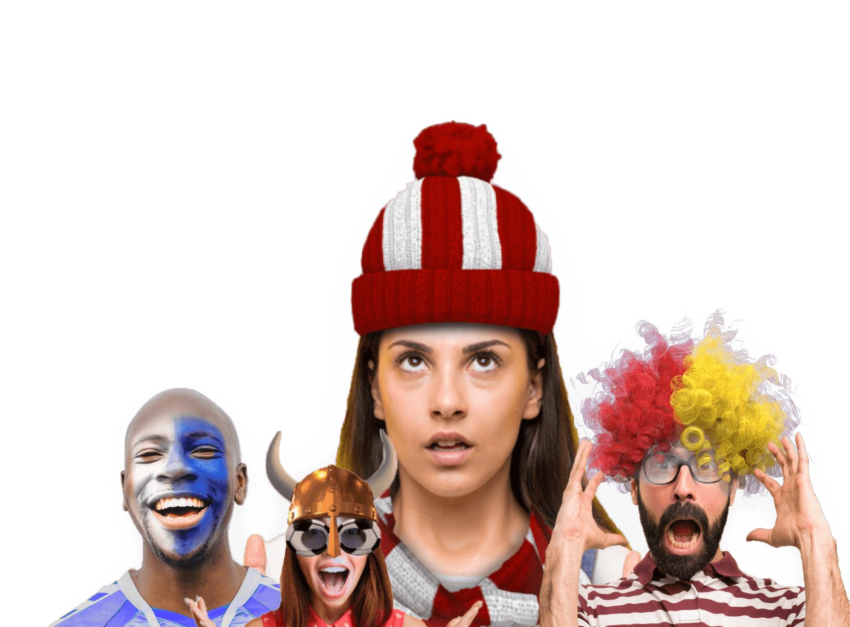 Faces showing DeepAR face filters