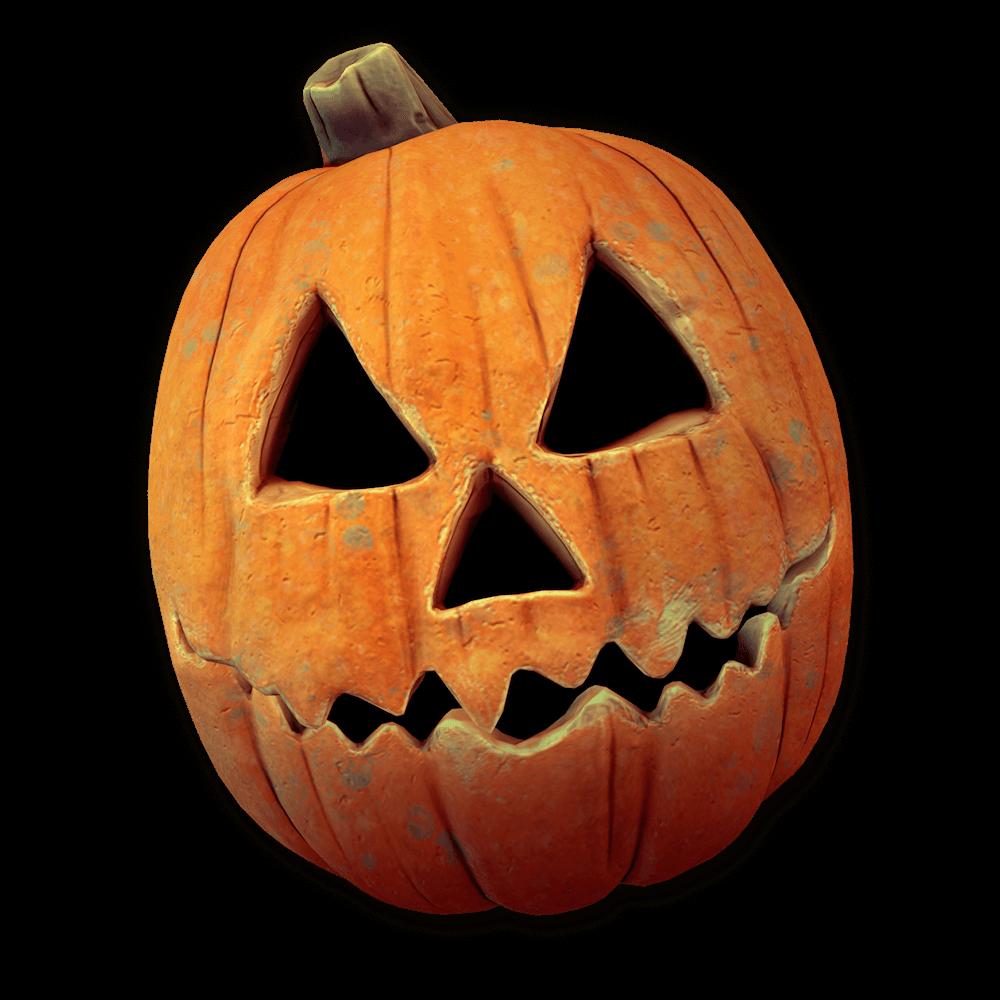 A scary halloween pumpkin!