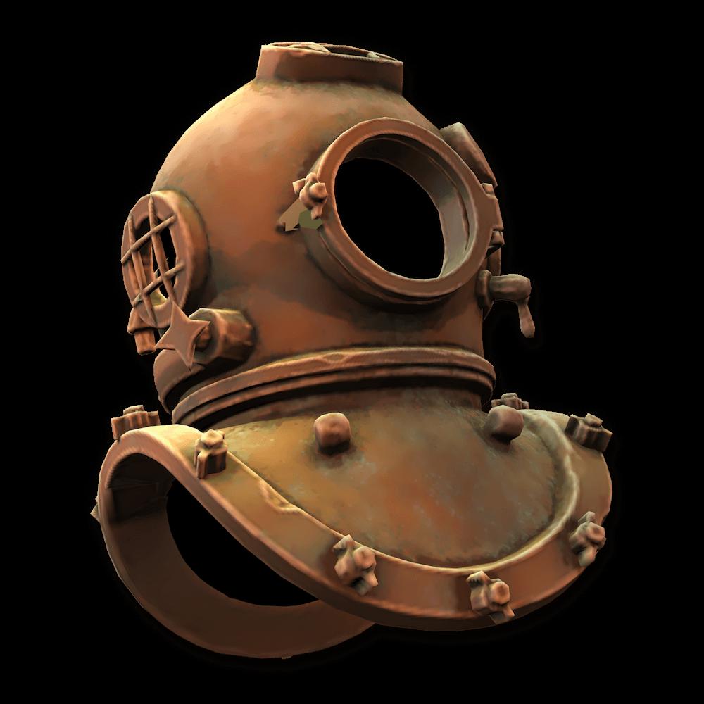 A freaky oldschool diving helmet